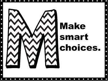 Rules for the Music Classroom: Chevron and Floral