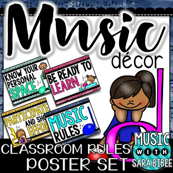 Rules for the Music Classroom: Colorful Music Kids