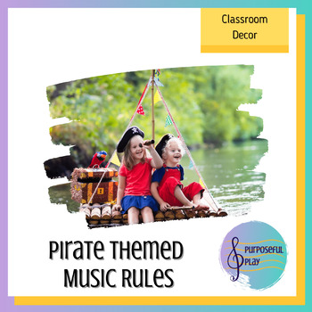 Rules for the Music Room - Pirate Theme