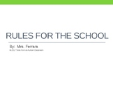 Rules for the School Social Story