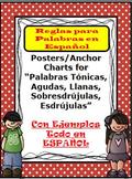 Rules in SPANISH Words (Tónicas, agudas o graves, esdrújul