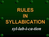 Rules in Syllabication PPT