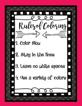 Rules of Coloring