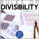 Rules of Divisibility - Differentiated Interactive Notes and Worksheets