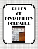 Rules of Divisibility Foldable