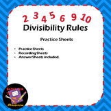 Rules of Divisibility Practice Sheets