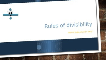Rules of Divisibility power point and practice