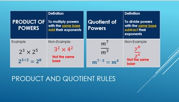 Lesson 2: Rules of Exponents
