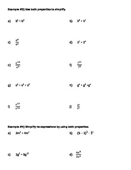 Rules of Exponents- Discovery of Property of Products and Quotients