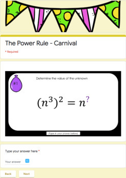 Rules of Exponents  – Google Carnival Game Bundle!