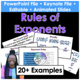 Rules of Exponents Keynote PowerPoint