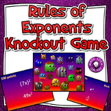 Rules of Exponents Knockout Game (Properties of Exponents)