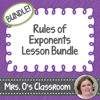 Rules of Exponents Lesson Bundle
