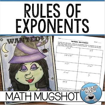Rules of Exponents Math Mugshot!