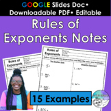 Rules of Exponents Notes