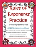 Exponent Rules Practice  Common Core 8.EE.A.1