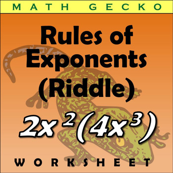 #260 - Rules of Exponents Riddle