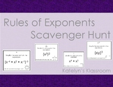 Rules of Exponents Scavenger Hunt