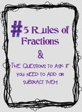 Rules of Fractions