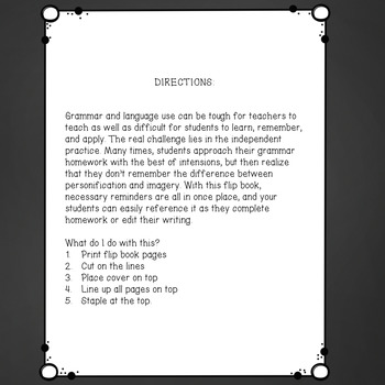 Rules of Grammar Flip Book