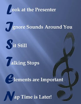 Rules of Listening 11x14 poster