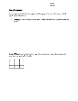 Rules of Photography and Composition Magazine Scavenger Hunt