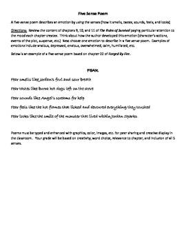 Rules of Survival by Nancy Werlin: 5 Sense Poem