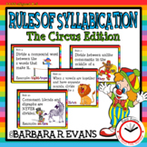 SYLLABLE RULES Circus Theme Syllable Posters Syllable Activities Phonics