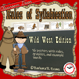 SYLLABLE RULES Cowboy Theme Syllable Posters Syllable Activities Phonics