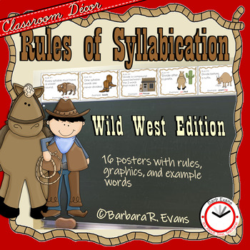 RULES of SYLLABICATION - *The Cowboy Edition*
