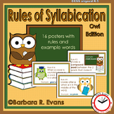 SYLLABLE RULES Owl Theme Syllable Posters Syllable Activities Phonics