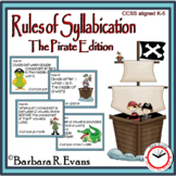 SYLLABLE RULES Pirate Theme Syllable Posters Syllable Activities Phonics