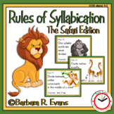 SYLLABLE RULES Safari Theme Syllable Posters Syllable Activities Phonics