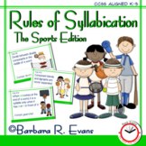 SYLLABLE RULES Sports Theme Syllable Posters Syllable Activities Phonics