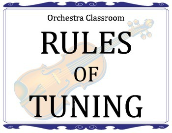 Rules of Tuning - for the orchesra classroom - poster