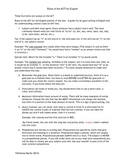 Rules of the ACT for English