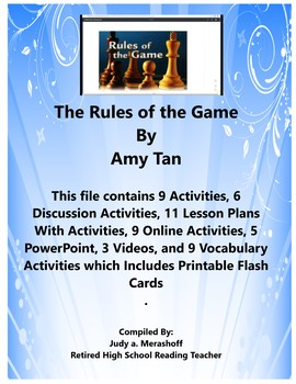 Rules of the Game By Amy Tan Teacher Supplemental Resources