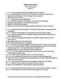 Rules of the Game Joy Luck Club Amy Tan Guided Reading Worksheet