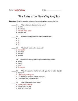 Rules of the Game Quiz