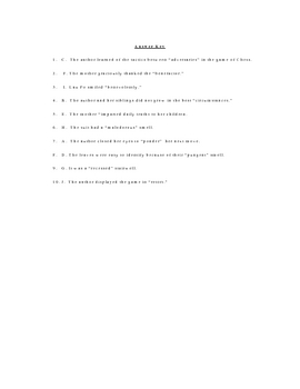 Rules of the Game Vocabulary Worksheet