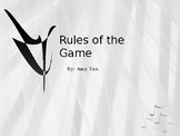 Rules of the Game by Amy Tan