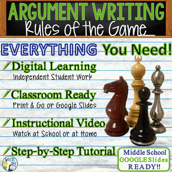 Rules of the Game by Amy Tan - Text Dependent Analysis Argumentative Writing