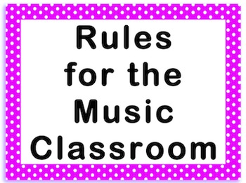 Rules of the Music Room