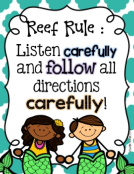 Rules of the Reef: Classroom Rules Posters