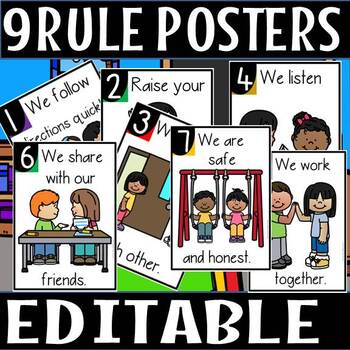 Rules posters(editable)