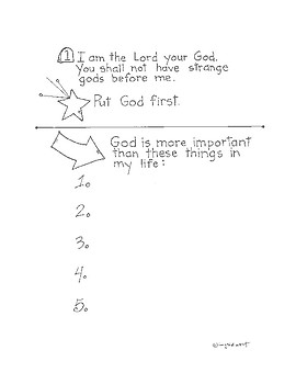 Rules that Rock - the Ten Commandments Activity booklet for Catholic children