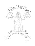 Rules that Rock - the Ten Commandments Activity booklet fo