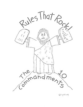 Rules that Rock - the Ten Commandments Activity booklet fo