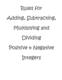 Rules to Add, Subtract, Multiply & Divide Integers
