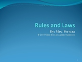 Rules vs. Laws Power Point
